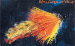 Yellow, Orange and Griz Tarpon Fly