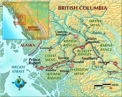 British Columbia Steelhead Map