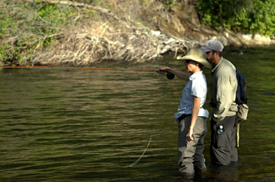 Teaching Wife to Fly Fish