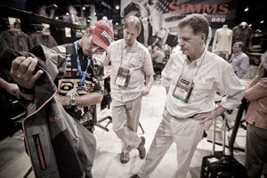 Simms ProDry Suit and Mike Iaconelli
