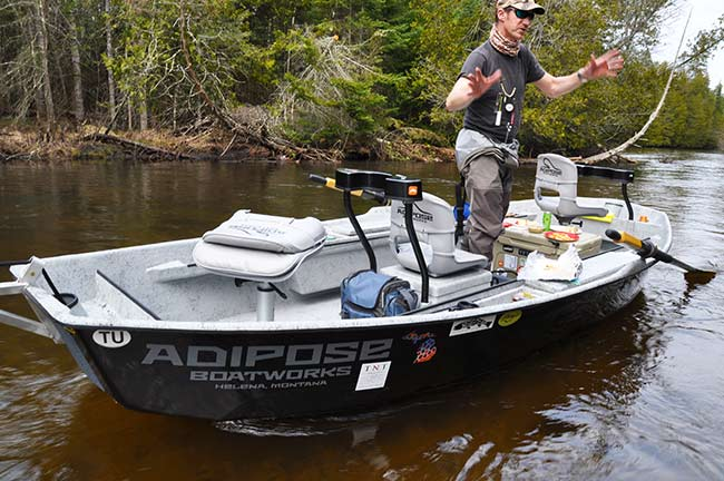 How to choose a drift boat part ii adipose skiff for Drift boat fishing