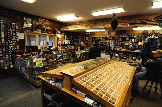 Shop talk at the Gates Au Sable Lodge