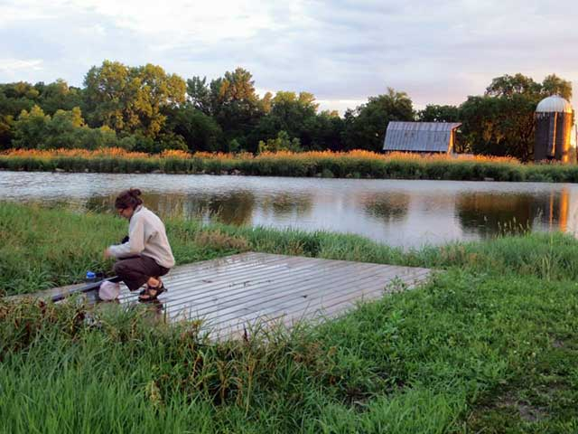 Father Daughter Farm Pond | MidCurrent