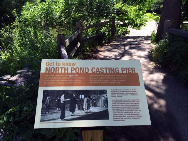 Chicago North Pond Casting Pier